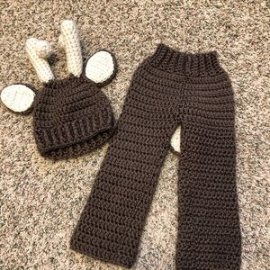 Other - Newborn Deer Crochet Matching Set